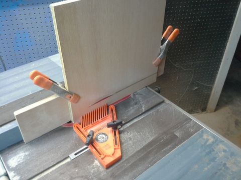 tablesaw setup for cutting zigzag bevels