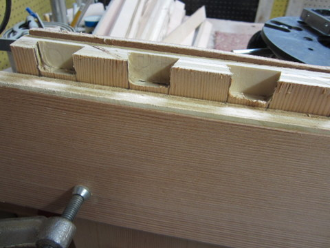 finishing up the dovetail coves