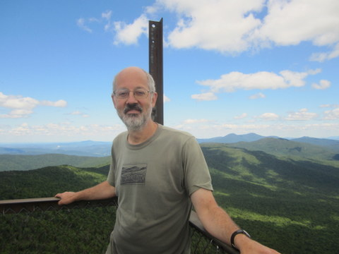 on Belividere Mtn, atop its scary fire tower